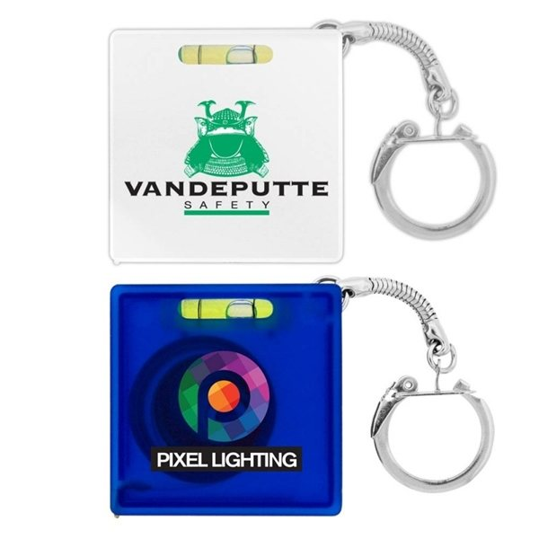 Promotional Tape Measure w / Level Key Chain