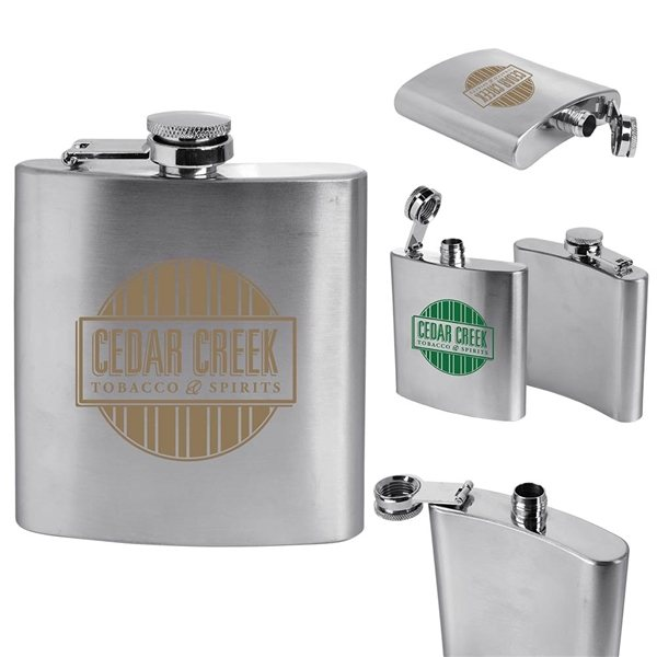 Promotional Stainless Steel Flask 6 oz