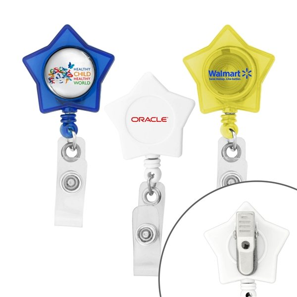 Promotional Star - Shaped Retractable Badge Holder