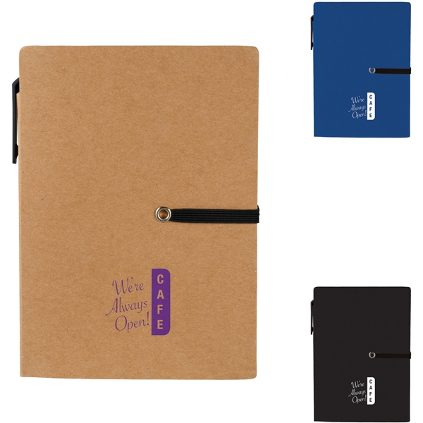 Promotional 4 x 5.5 Stretch Notebook with Pen
