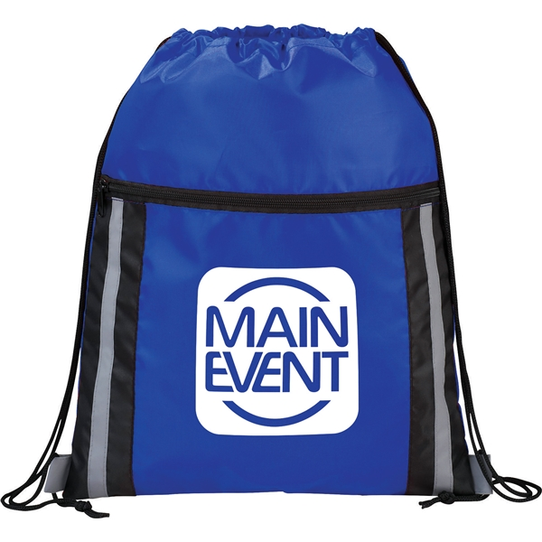 Promotional Deluxe Reflective Drawstring Sportspack