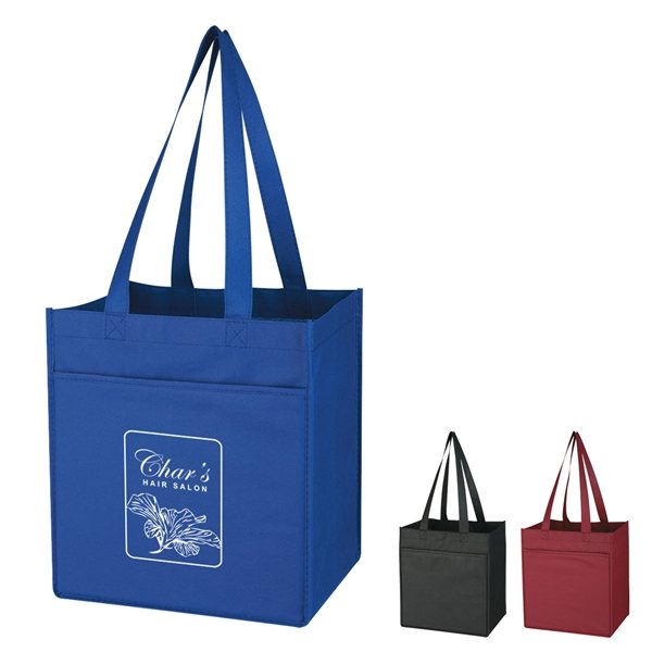 Promotional Non - Woven 6 Bottle Wine Tote Bag