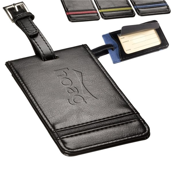 Promotional Alpha(TM) Luggage Tag with Adjustable Strap