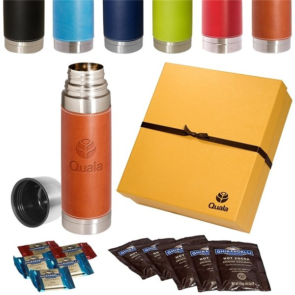 Promotional Tuscany(TM) Thermos Ghirardelli(R) Deluxe Gift Set