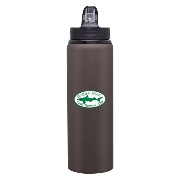 Oz Hgo Allure Matte Gray Advertising Specialties Sports - H2go water bottle