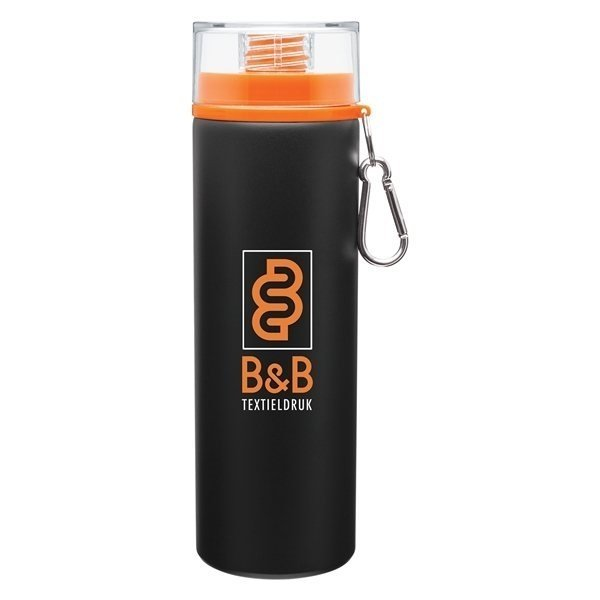 Promotional 28 oz H2go Trek - Matte Black - Orange