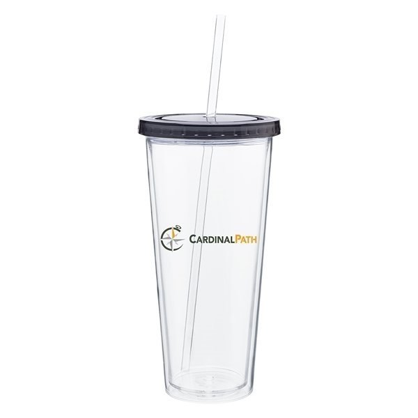 Promotional 20 oz Spirit Tumbler With Color Lid - Graphite