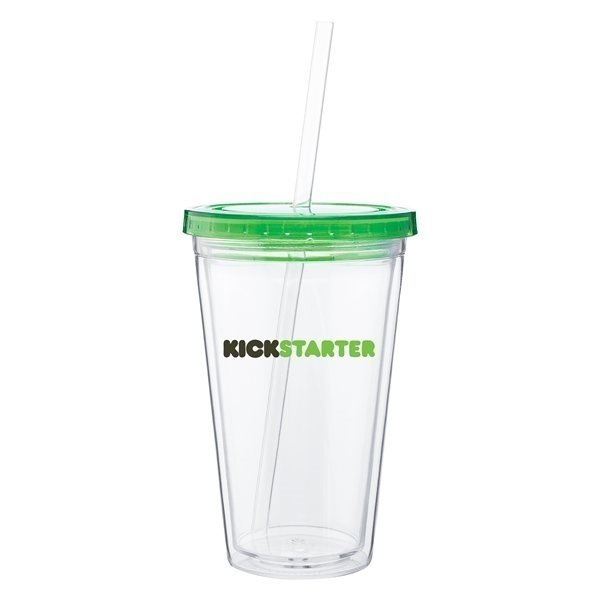 Promotional 16 oz Spirit Tumbler With Color Lid - Apple