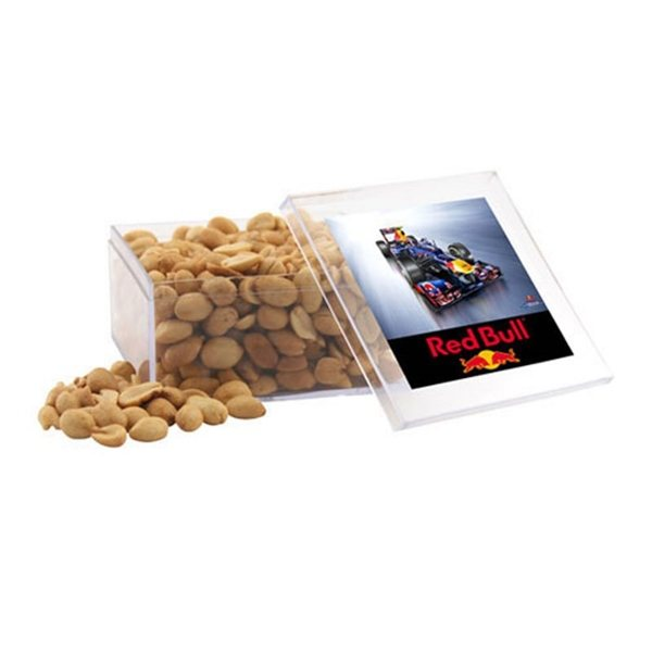 Promotional Large Square Acrylic Case with Peanuts
