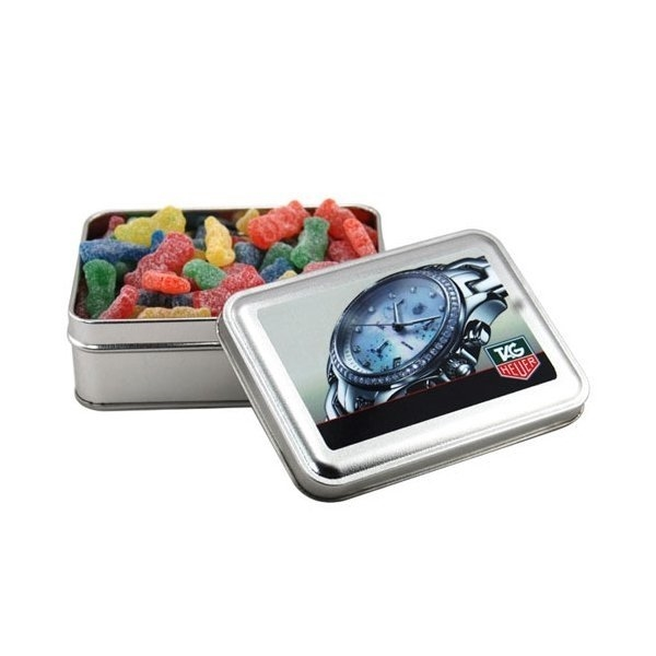 Promotional 5 Rectangle Tin with Sour Patch Kids