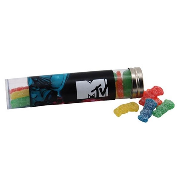 Promotional Large Plastic Tube with Sour Patch Kids