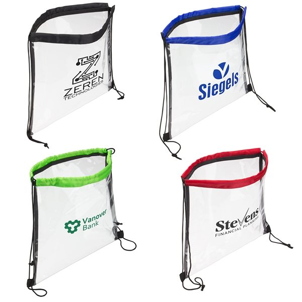 Promotional Clear Bag With Drawstring