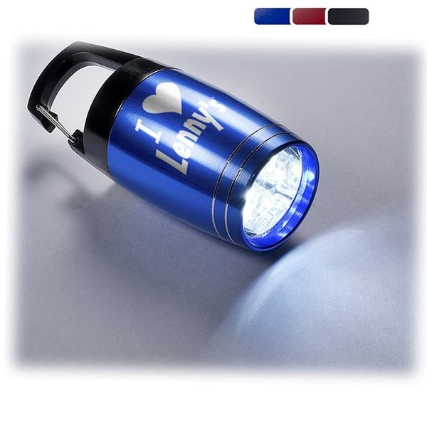 Promotional Baby Barrel 6 LED Torch with Carabiner