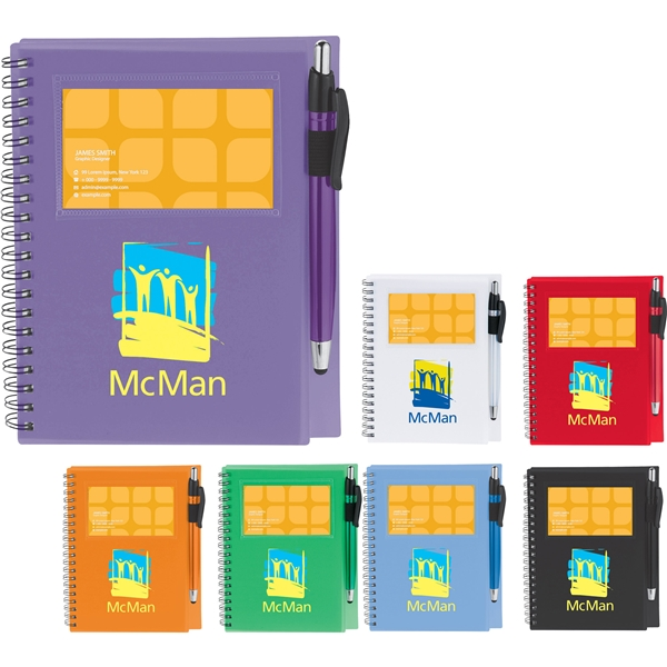Promotional The Star Spiral Notebook with Pen - Stylus