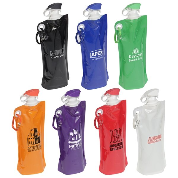Promotional Flip Top Folding Water Bottle
