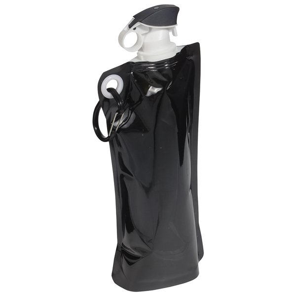 Promotional Flip Top 27 oz Foldable Water Bottle with Carabiner