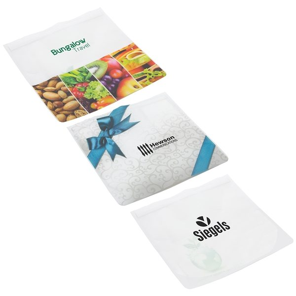 Promotional Tag - Along Pouch with Zip Top Closure