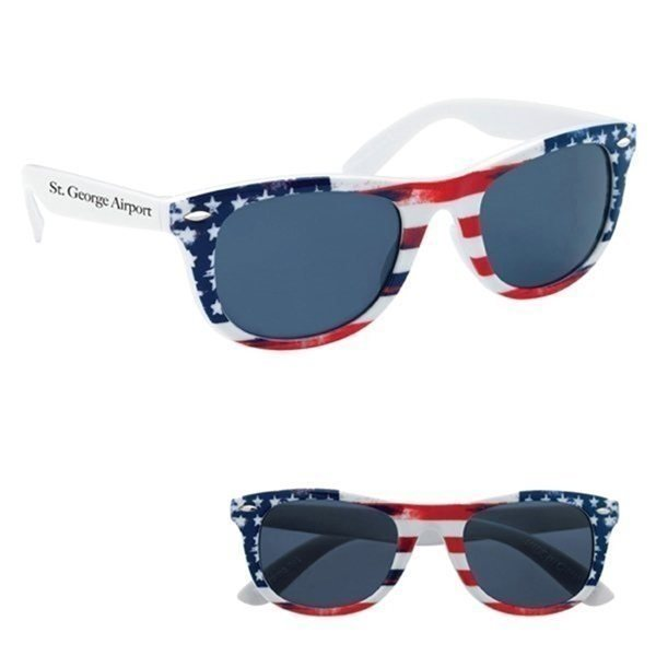 Promotional Patriotic Malibu Sunglasses