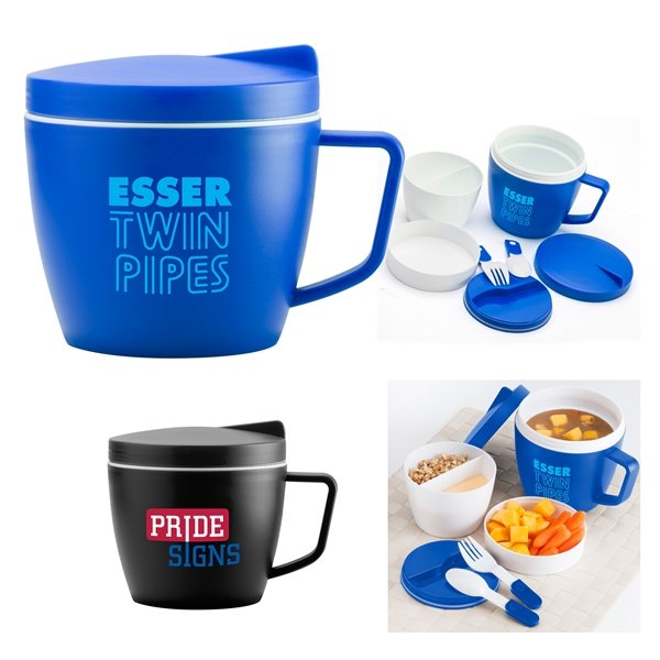 Promotional Lunch Mug 16 oz Soup Container