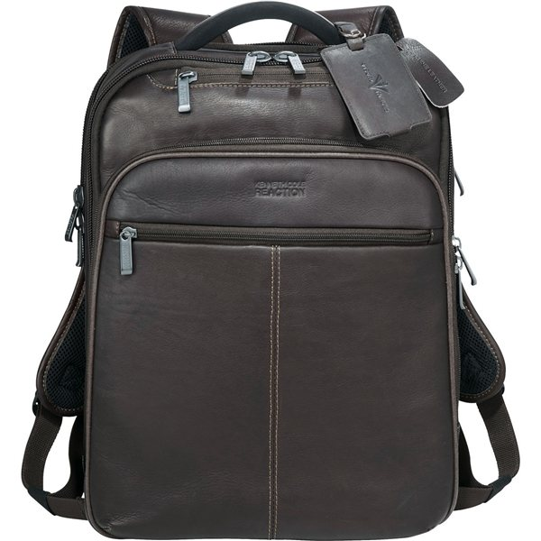 Promotional Kenneth Cole(R) Colombian Leather TSA Compu - Backpack
