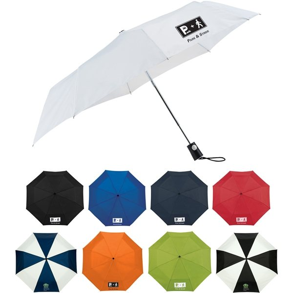 Promotional 42 totes(R) 3 Section Auto Open Umbrella