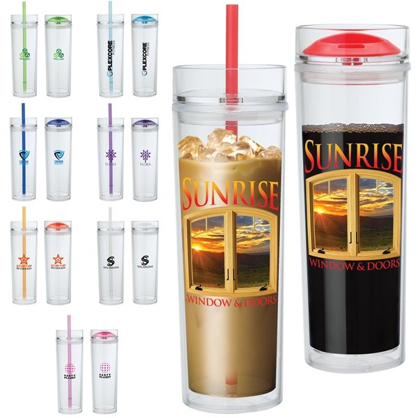 Promotional Jomocha 16 oz Double Lid Hot / Cold Tumbler