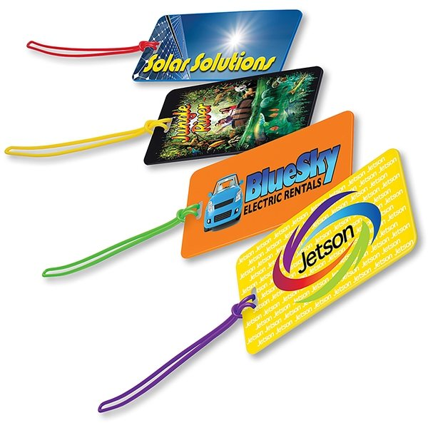 Promotional Two Color Luggage Tag