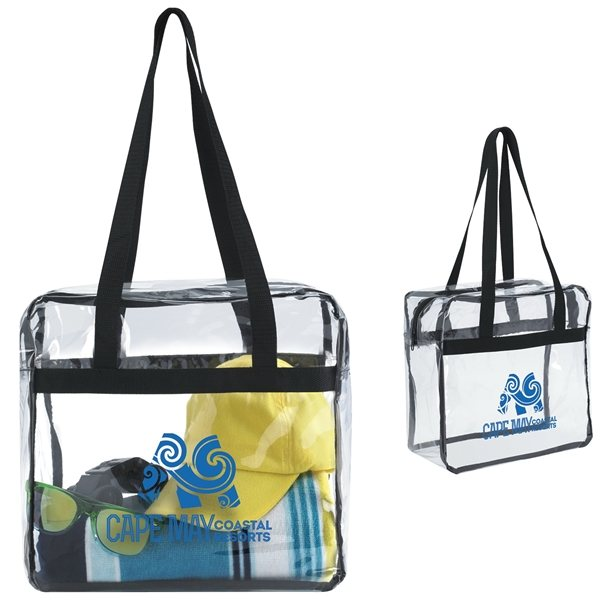 Promotional Clear Zippered Tote