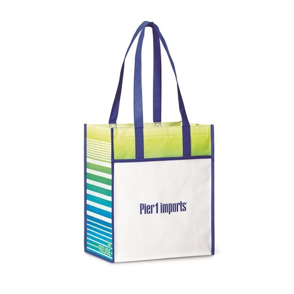 Promotional Horizons Laminated Shopper - Royal Blue / Pattern
