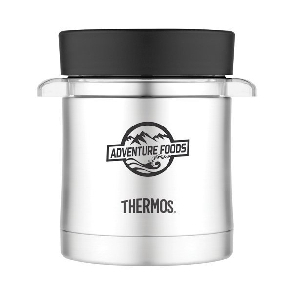 Promotional Thermos(R) Food Jar with Mircowavable Container - 12 oz - Black