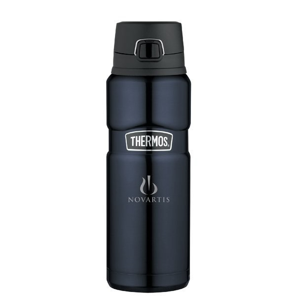 Promotional Thermos(R) Stainless King(TM) Direct Drink Bottle - 24 oz - Midnight Blue