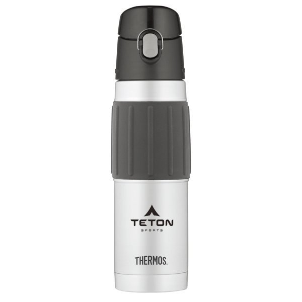 Promotional Thermos(R) Hydration Bottle with Rubber Grip - 18 oz - Stainless Steel