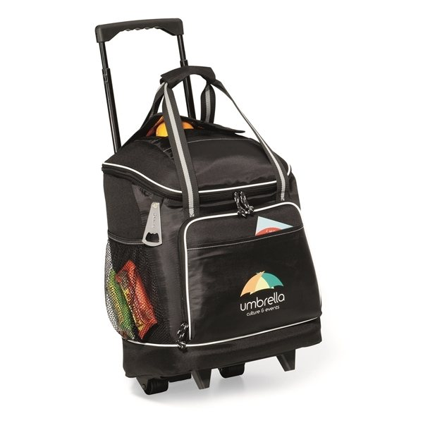 Promotional Harbor Wheeled Cooler - Black