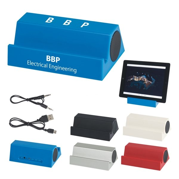 Promotional Speaker And Tablet Stand