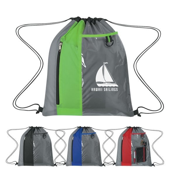 Promotional Sports Pack With Clear Pocket