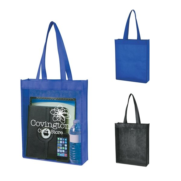 Promotional Non - Woven Clear View Tote Bag