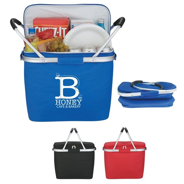 Promotional Picnic Fun Collapsible Cooler Basket