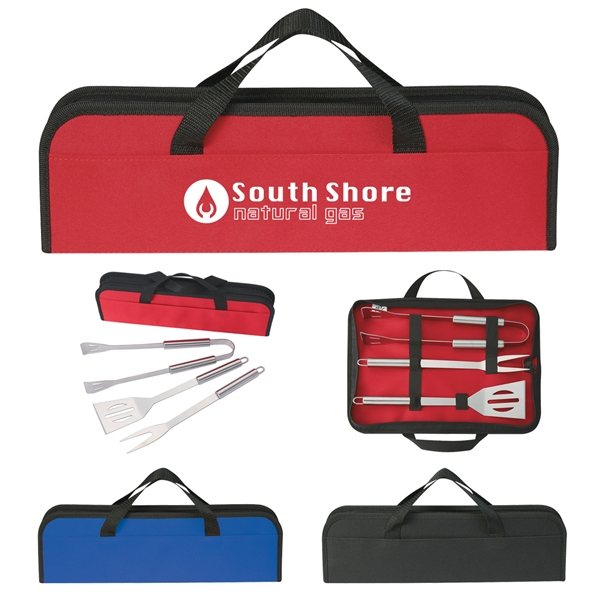 Promotional 3 Piece BBQ Set In Case