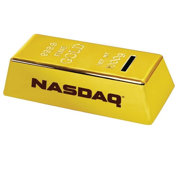 Promotional Plastic Gold Bar Coin Bank