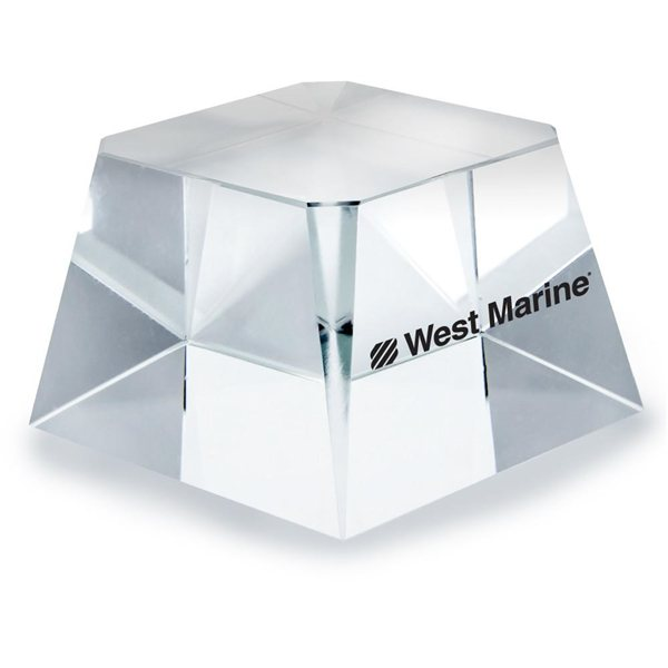 Promotional Clear Crystal Square Base Award - 2-3/8 x 2-3/8 x 1-1/2
