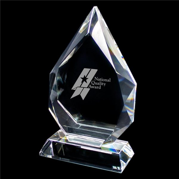 Promotional Small Wide Crystal Award