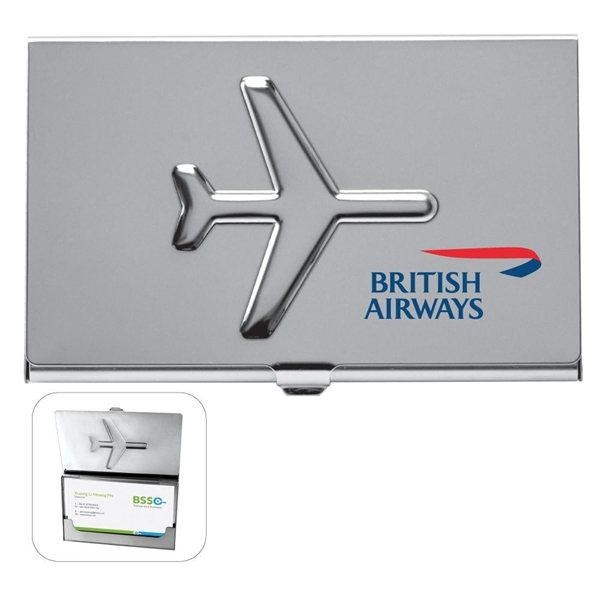 Promotional Metal Airplane Business Card Holder Case