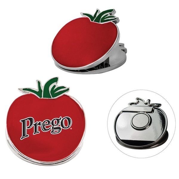 Promotional Tomato Metal Clip W / Magnet