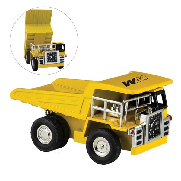 Promotional Yellow Dump Truck Clock
