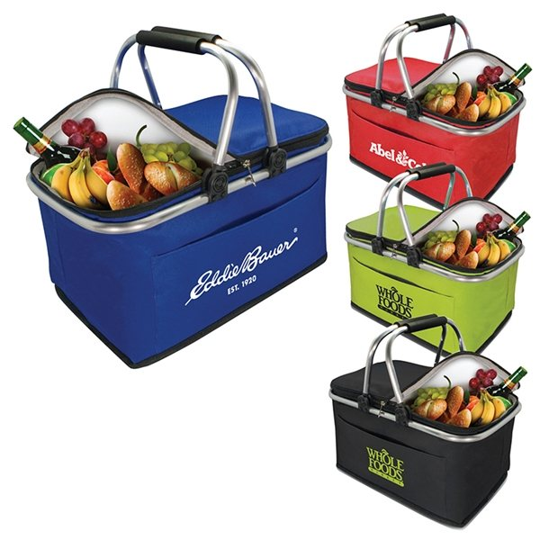 Promotional Collapsible Insulated Picnic Basket