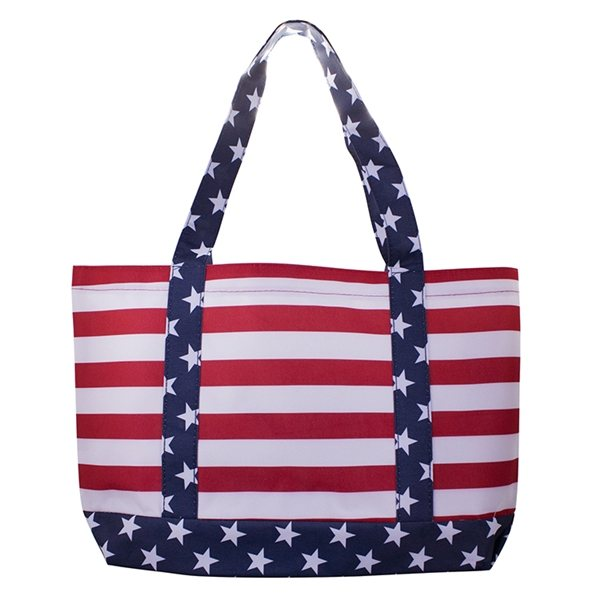 Promotional 600D Polyester Patriotic Tote Bag