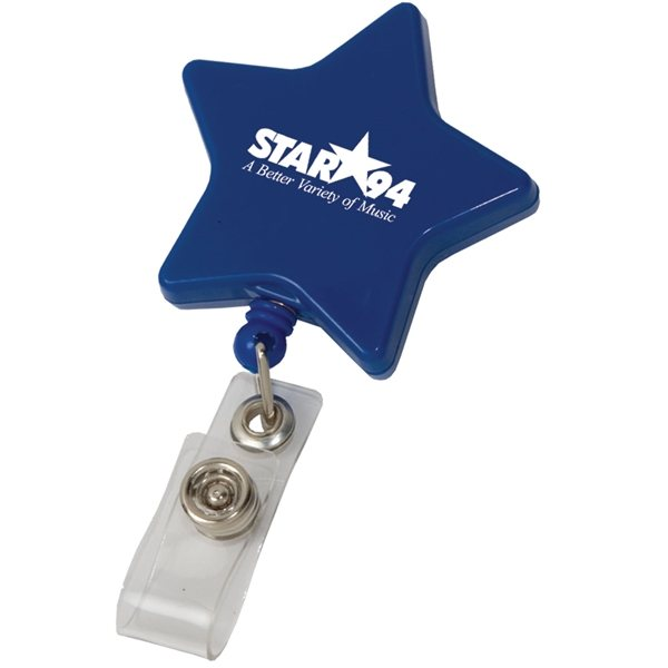 Promotional Star Retractable Badge Holder