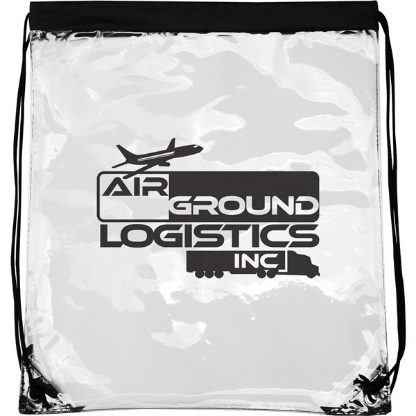 Promotional Clear PVC Drawstring Backpack