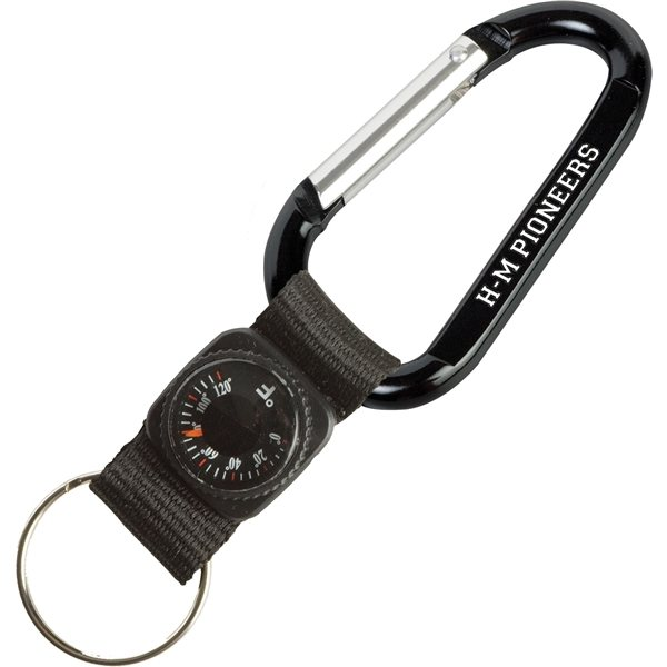 Promotional Carabiner With Thermometer Keytag
