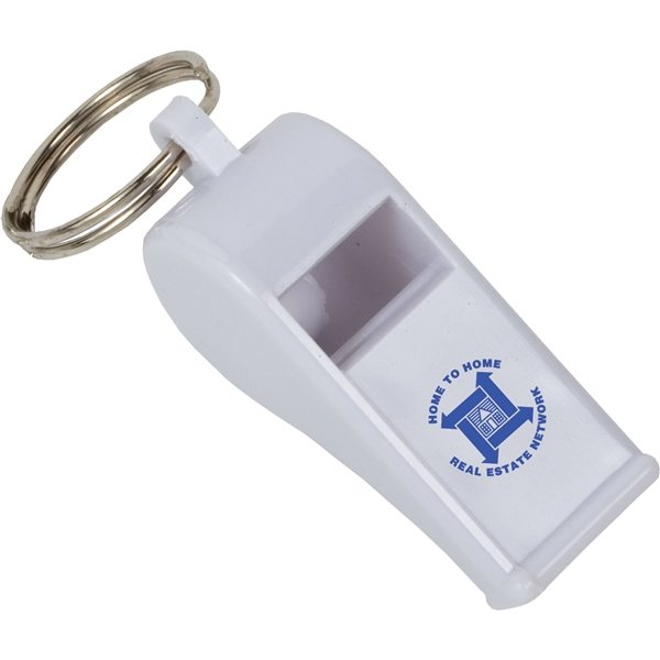 Promotional Whistle With Key Ring